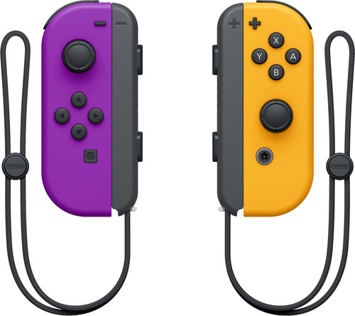 Nintendo Switch Joy-Con set Neon Paars/Neon Oranje Main Image