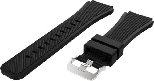 Just in Case Samsung Galaxy Watch 46mm Siliconen Bandje Zwart Main Image