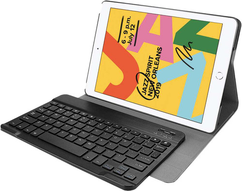 Just in Case Premium Bluetooth QWERTY Keyboard Cover Apple iPad (2019) Back Cover Black Main Image