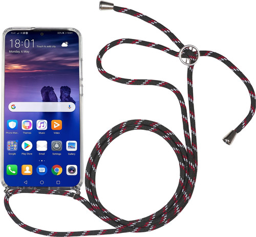 StilGut Huawei P Smart (2019) Back Cover with Lanyard Transparent Main Image