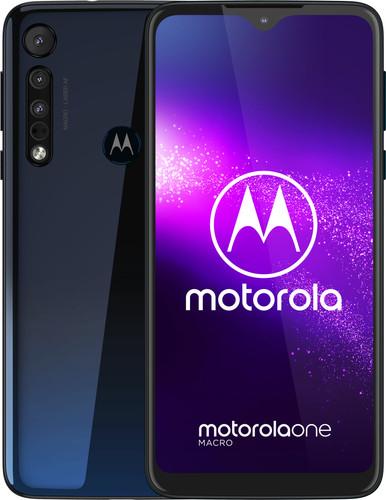 Motorola One Macro Blauw Main Image