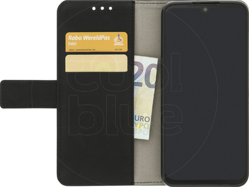 Just in Case Wallet Motorola One Zoom Book Case Zwart Main Image