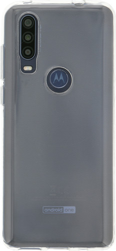 Just in Case Soft TPU Motorola One Action Back Cover Transparant Main Image