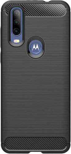 Just in Case Rugged TPU Motorola One Action Back Cover Zwart Main Image