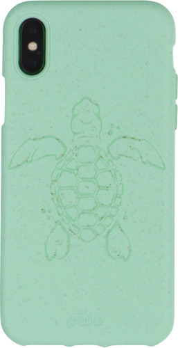 Pela Eco Friendly iPhone X/Xs Back Cover Blauw (Turtle Edition) Main Image