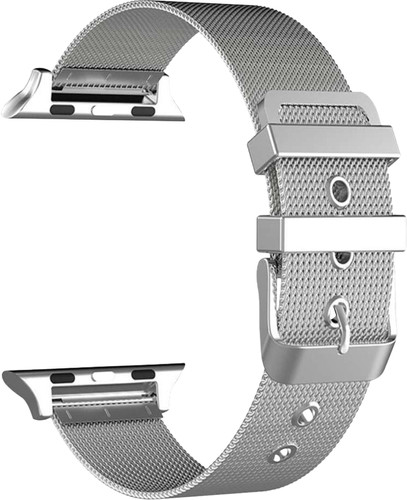 Just in Case Apple Watch 38/40mm Mesh Bandje Zilver Main Image