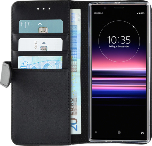 Azuri Wallet Sony Xperia 5 Book Case Zwart Main Image
