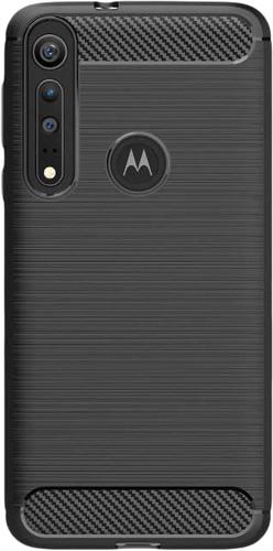 Just in Case Rugged TPU Motorola One Macro Back Cover Zwart Main Image