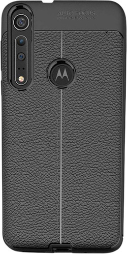 Just in Case Soft Design TPU Motorola One Macro Back Cover Zwart Main Image