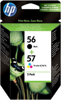 HP 56/57 Cartridge Black + Combo Pack 3 Colors (SA342AE) Main Image