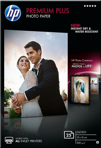HP Premium Glossy Foto Papier 25 Vel (10 x 15) Main Image