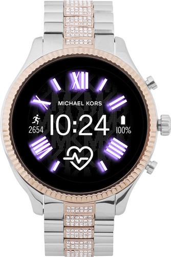Michael Kors Access Lexington Gen 5 MKT5081 ZilverRosé Goud met diamantjes
