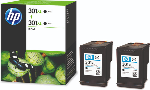 HP 301XL Cartridges Black Duo Pack Main Image