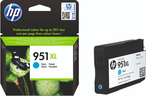 HP 951XL Officejet Ink Cartridge Cyan (CN046AE) Main Image