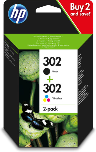 HP 302 Ink Cartridge Combo-pack (X4D37AE) Main Image