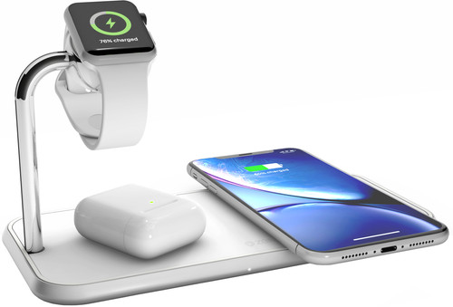 ZENS Dual & Apple Watch Aluminum Wireless Charger 10W White Main Image