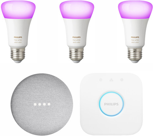 Google Nest Mini Philips Hue Starter Pack Main Image