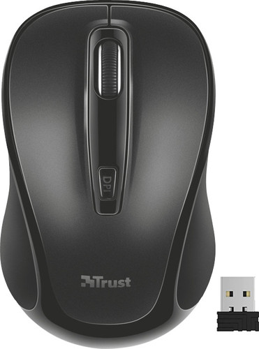 Trust Zelo Silent Click Wireless Mouse Black Main Image