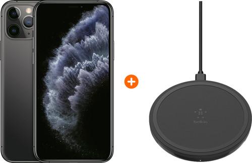 Apple iPhone 11 Pro 256 GB Space Gray + Belkin Boost Up Draadloze Oplader 10W Zwart Main Image