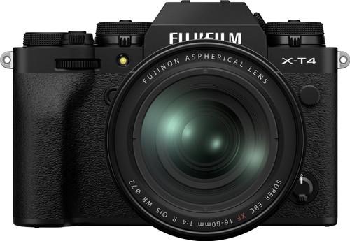 Fujifilm X-T4 Black + XF 16-80mm f/4 R OIS WR Main Image
