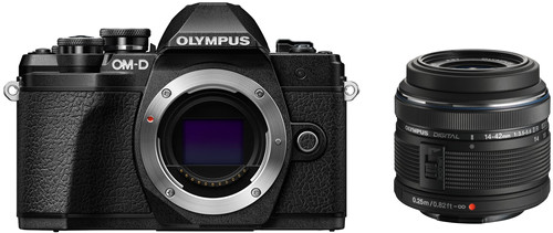 Olympus OM-D E-M10 Mark III Body Zwart + 14-42mm IIR Zwart Main Image