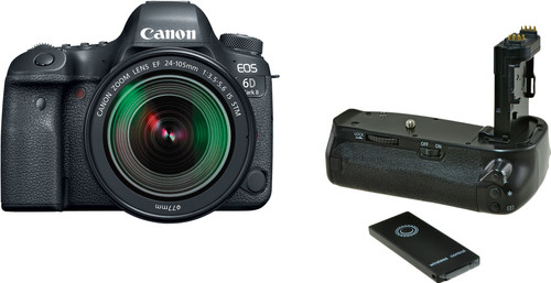 Canon EOS 6D Mark II + 24-105mm f/3.5-5.6 IS STM + Jupio Battery Grip (BG-E21) Main Image