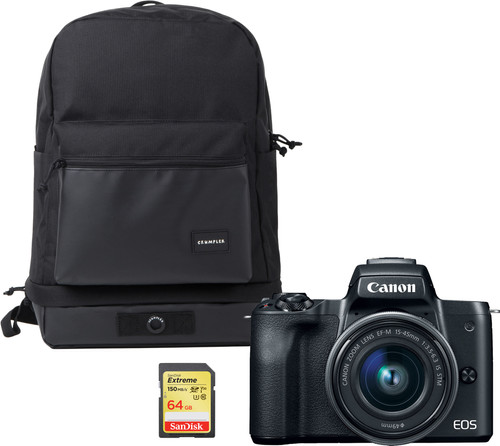 Canon EOS M50 Zwart - Travelkit Main Image