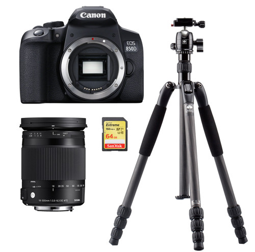 Canon EOS 850D + Sigma 18-300mm DC Macro OS HSM  + Tripod + 64GB Memory Card Main Image