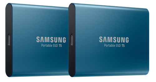 Samsung Portable SSD T5 500GB Duo Pack Blauw Main Image