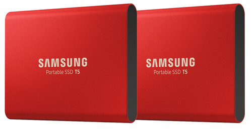 Samsung Portable SSD T5 500GB Duo Pack Rood Main Image