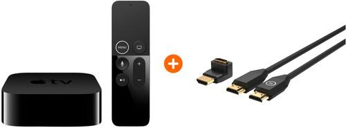 Apple TV HD - 32 GB + BlueBuilt HDMI Kabel Nylon 1 Meter Zwart + 90° Adapter Main Image