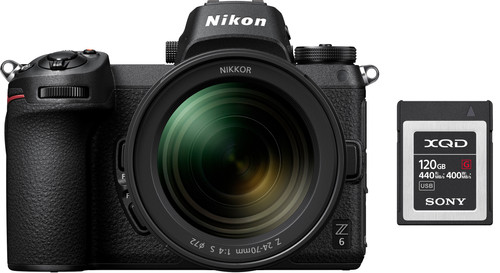 Nikon Z6 + Nikkor Z 24-70mm f/4 S + FTZ Adapter + 120GB XQD Memory Card Main Image