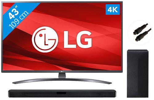 LG 43UM7400 + Soundbar Main Image