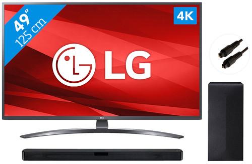 LG 49UM7400 + Soundbar Main Image