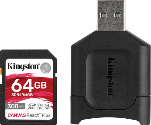 Kingston 64GB SDXC React Plus SDR2 + MLP SD Reader Main Image