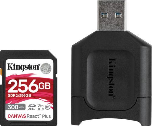 Kingston 256GB SDXC React Plus with Reader Main Image
