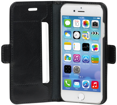 DBramante1928 Copenhagen Slim Apple iPhone SE 2 / 8 / 7 / 6s / 6 Book Case Leer Zwart Main Image