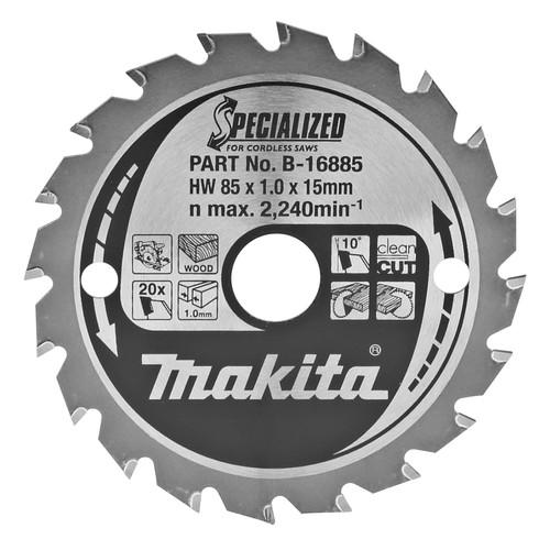 Makita Saw Blade Wood 85x15x1.0 20T Main Image