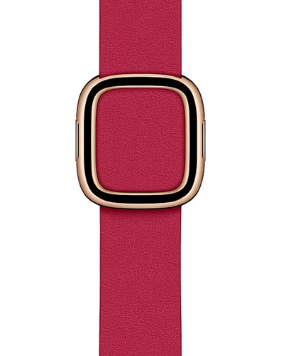 Apple Watch 38/40mm Modern Leather Watch Strap Raspberry - Small Main Image