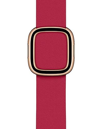 Apple Watch 38/40 mm Modern Leren Horlogeband Framboos - Medium Main Image