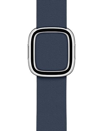 Apple Watch 38/40mm Modern Leather Watch Strap Deep Sea Blue - Large Main Image