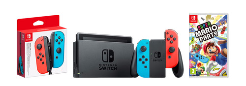 Nintendo Switch Red/Blue Family Bundle Main Image