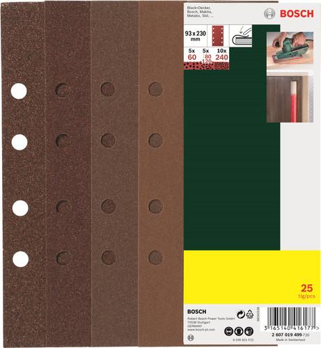 Bosch Schuurpapierset 93x230 mm K60, K80, K120, K240 (25x) Main Image