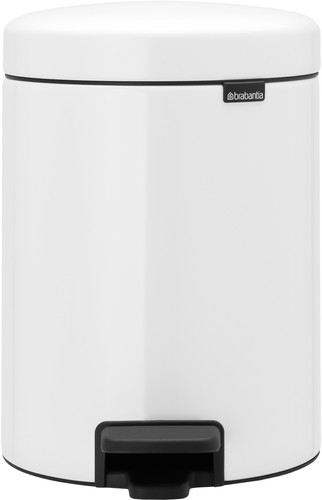 Brabantia NewIcon Pedal Trash Can 2x 2L  with 2 Plastic Inner Buckets - White Main Image