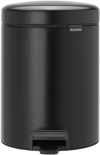 Brabantia newIcon pedaalemmer 2 x 2 liter met 2 kunststof binnenemmers - Matt Black Main Image