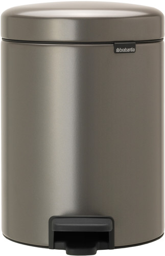 Brabantia NewIcon Pedal Trash Can 2x 2L with 2 Plastic Inner Buckets - Platinum Main Image