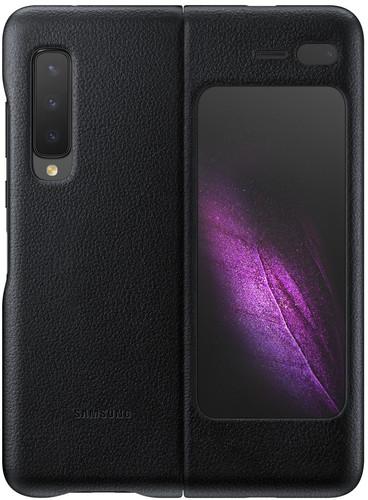 Samsung Galaxy Fold Back Cover Leer Zwart Main Image