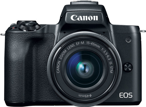 Canon EOS M50 Zwart + 15-45mm IS STM + 55-200mm IS STM Main Image