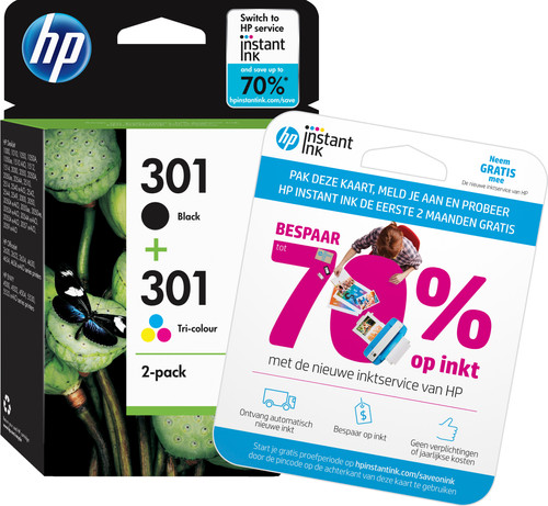HP 301 Ink Cartridge Combo-pack (N9J72AE) Main Image