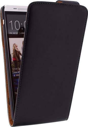 Xccess Leather Flip Case HTC One Max Zwart Main Image